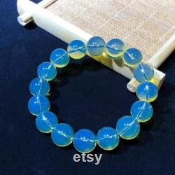 10mmAAA Dominican Natural Gemstones Blue Amber Healing Reiki Energy bracelet Rare Pale blue is very beautiful Great Mother's Day gift