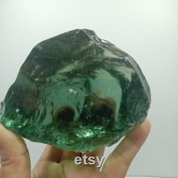 1190 gr rare Andara crystal white refractive green rough