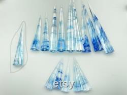 14 Pcs Smelt Quartz Crystal 6 sided Disintegrator Reiki Healing