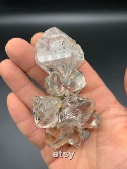 150 g Spectacular Herkimer Diamond Cluster, Water Clear Gems, Druzy Matrix Attached, World Class