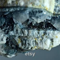 186 ct Vorobyevite Beryl Crystals with Quartz unknown metallic crystal on Feldspar