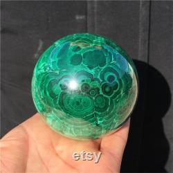 1.23LB Natural Malachite Sphere Quartz Crystal Ball Sphere Mineral Specimen Reiki Healing Stone Divination ball Collection 1PC