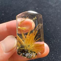 1.85 Natural high quality Himalaya Rutile hair Quartz crystal hand crafted Healing Meditation Chakra Great masterpiece Father's Day Gifts