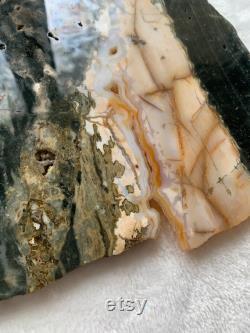 1lb 2 oz Ocean Jasper Slab Ocean Jasper Druzy Crystal Healing Crystals Spiritual Decor Metaphysical Stones Large Crystals