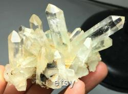 290 92 grams of healing power in a small package it is a cluster of clear quartz crystals with a hint of underlying green and citrine phase