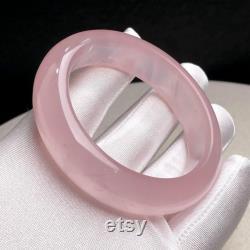 2.21 Stunning Natural Clear Pink Rose Quartz Crystal Bangle,Top Qaulity Transparent Pink Crystal Bracelet,Reiki Heal Meditation Gift for her