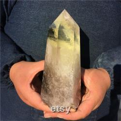 2.44LB Natural Smokey Citrine Quartz Obelisk,Crystal Wand Point,Crystal Tower,Home Decoration,Quartz Crystal,Reiki Heal,Crystal Heal