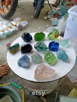 2kgs(237)13pcs mix pink bubbles, milky blue, black blue, Aquamarine,Tosca,blue,etc of andara Crystal Monatomic natural rough