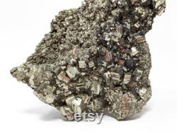 500 g. Large Cabinet Pyrite Crystal Specimen from Peru, 11.5 x 3.7 x 9 cm