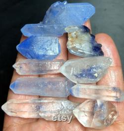 58g 9PCS Very Rare NATURAL Clear Beautiful Blue Dumortierite Crystal DT d835