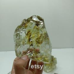 5 pcs 1310 gr of rough andara crystal monatomic yellowish clear for meditation