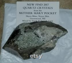 612g Smoky Quartz crystal including quartz and cookeite from the Mother Mary Pocket in Greenwood,Maine. Hayes Ledge Noyes Mountain.