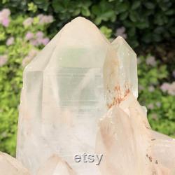 6.1LB Stunning Natural Rough Clear Quartz Crystal Cluster Raw White Cluster White Quartz Cluster Crystal Point Quartz Druzy Reiki Healing