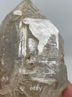 98g Double Terminated Fenster Quartz Skeletal Etchings With Matrix Layered Clay Inclusions -