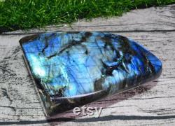 A polished blue light labradorite,blue flash,natural labradorite,labradorite decor