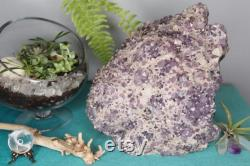 Amethyst Crystal Cluster with Calcite, 172.5 oz Geode from Brazil