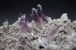 Amethyst-Vera Cruz Amethyst- Amethyst On Matrix Thin Laser Points Amethyst cluster from Mexico