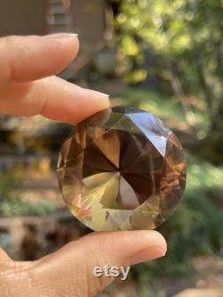 Angel Aura Citrine 'Diamond' Jewel, Rainbow Chakra Magic, Empath Crystal Magick, Healing, Divination, Metaphysical, AQ6-0701