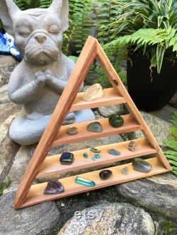 Aquarius Zodiac Shelf, Aquarius Gift, Aquarius Shelf, Aquarius Triangle Shelf With Crystals, Zodiac Crystal Set, Zodiac Triangle Shelf