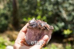 Auralite-23 Crystal (Canadian Chevron Amethyst) 1 Pound RARE Metauralite Dark Smokey Cluster Iron Rich Magnetite