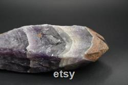 Auralite 23 LARGE Red Dusty Tip Crystal Point Rare High Energy Stone Canada Metaphysical Authentic Cave of Wonders Quartz Amethyst