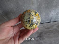Bumble Bee Jasper Sphere 10.0 oz and 60 mm 2511 cc