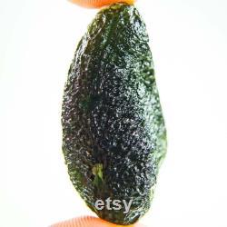 Certified Big Moldavite with Olive green color