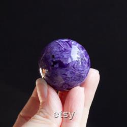 Charoite Sphere, Grade AAA Charoite