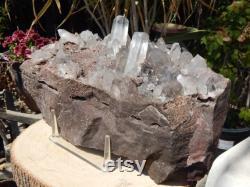 Clear Crystal Quartz Point Cluster Druzy Matrix, Crystal Point Cluster, Quartz Crystal Point, Quartz Crystal Point Cluster, Clear Quartz