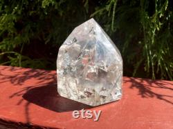 Clear Quartz Crystal 5.5 oz. Generator 2 1 2 Tall Ultra Sparkling Silver Flash Inclusions Incredible Rainbows Beautiful Display