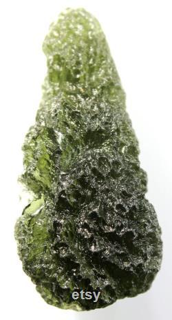 Excellent Natural Czech Moldavite from CHLUM , 9.3 grams, 39x18x15 mm, beautiful drop shape, nice structure, from Czech republic