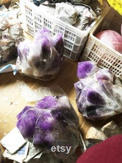 Extra Large Large Natural Amethyst Point Amethyst Amethyst Cluster Amethyst Quartz Raw Amethyst