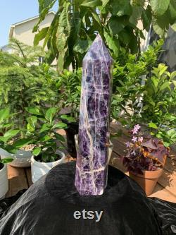 Extra Large Purple and Green Fluorite Tower