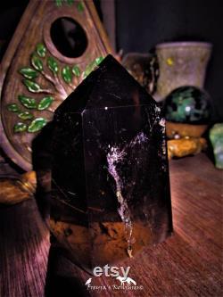 Gold Rutile Cognac Smoky Quartz Display Specimen Hair of Freyja
