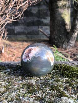 Gorgeous Banded Jasper Sphere, 66mm Ocean Jasper Sphere, Ocean Jasper Sphere