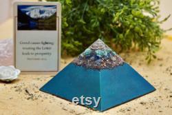 Green Chrome Orgonite Pyramid