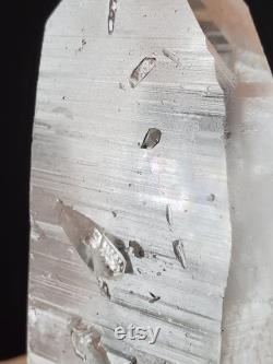 LARGE RECORD KEEPER Lemurian Crystal with Rainbows Lemurian Seed Quartz Crystal