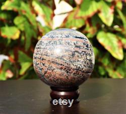 Large 105MM Natural Sonoran Dendritic Jasper Rhyolite Stone Healing Metaphysical Power Aura Sphere Ball