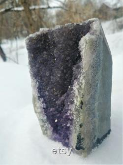 Large Amethyst Cathedral Crystal Cluster -Third Eye Chakra Reiki Meditation Crystals Home Decor