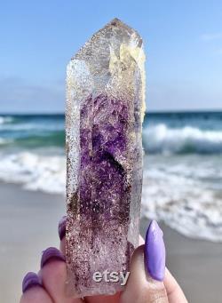 Large Brandberg Smokey Amethyst Analcime Prehnite Hematite Enhydro Epic Crystal Namibia Africa