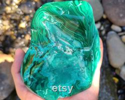 Large Malachite and Chrysocolla Crystal, Natural Malachite Crystal from Congo, Healing Crystal, Malachite Display Specimen, MC01