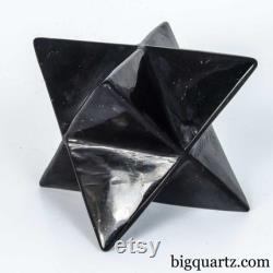 Large Shungite Merkaba Sculpture (Russia B533) 1.4 pounds weight