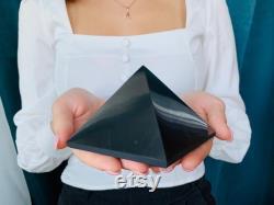 Large Shungite Pyramid 100x100 mm (3.9x3,9 in),Big Shungite Pyramid 100mm,shungite 100 100mm pyramid,XL Shungite Pyramid,Shungite Pyramid 4