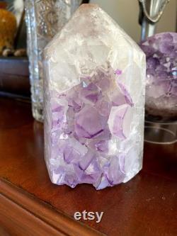 Lilac PURPLE AMETHYST Point Specimen Amethyst Hexagon Amethyst Tower Amethyst Statue Amethyst Geode Druzy Point crystal Quartz Tower