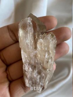 Natural Congo Kundalini Quartz Citrine Cascading Crystal Cluster