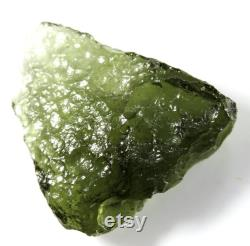 Natural Czech small moldavite from locality CHLUM 2021, 2.77 grams, 23x22x6 mm, nice apple green color, from Czech republic