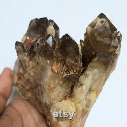 Natural Kundalini Quartz, Congo Quartz, Self-Standing Natural Golden Quartz, 790 g, Democratic Republic of Congo, Kundalini Quartz Crystal