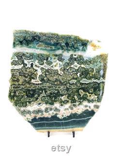 Ocean Jasper Stone Slab Ocean Jasper Slice Orbicular Jasper stone Healing crystals and stones Sea Jasper Stone Slice 3
