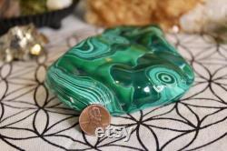 Polished Chrysocolla Malachite Freeform Crystal, 22.1 oz from Brazil