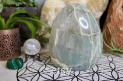 Polished Garnierite Freeform Crystal, 28.9 oz Green Moonstone Crystal